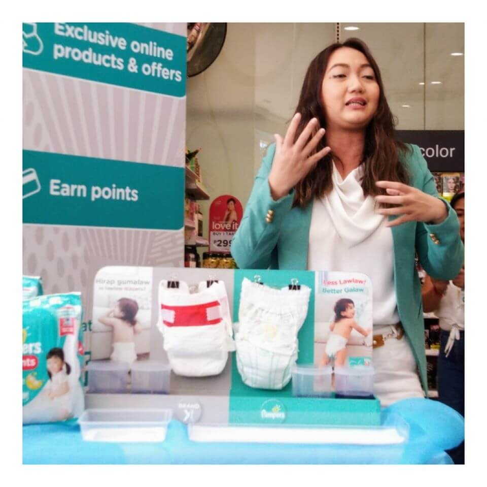 Omni Larrosa at Watsons Baby Discovery Day