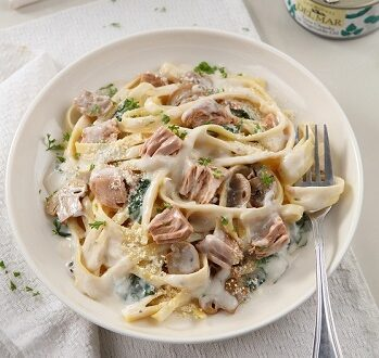 Tuna Mushroom Cream Pasta_Veg Oil Featured