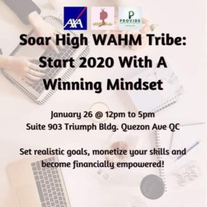 Winning Mindset at te WAHM Tribe Event 2020