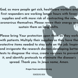 Covid-19 Prayer for medical professionals, caregivers, and researchers