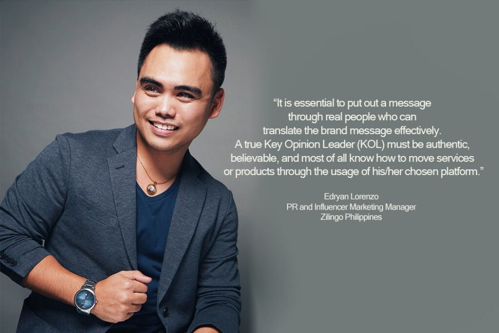 Edryan Lorenzo - PR and Influencer Marketing Manager of Zilingo PH